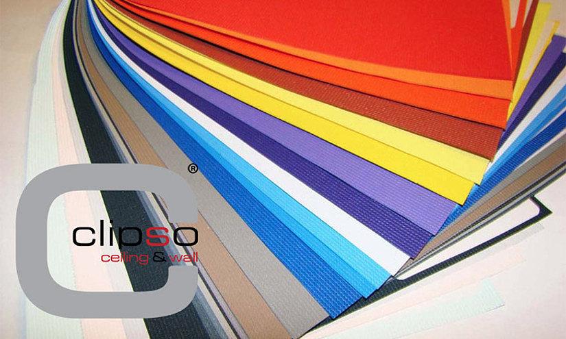тканевые цветные натяжные потолки