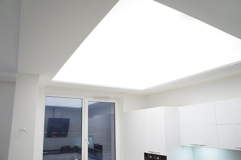 Светодиодная подсветка на натяжном потолке
