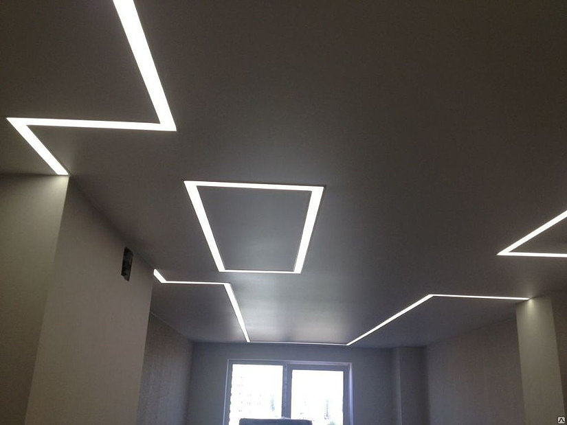 парящие линии- натяжной потолок