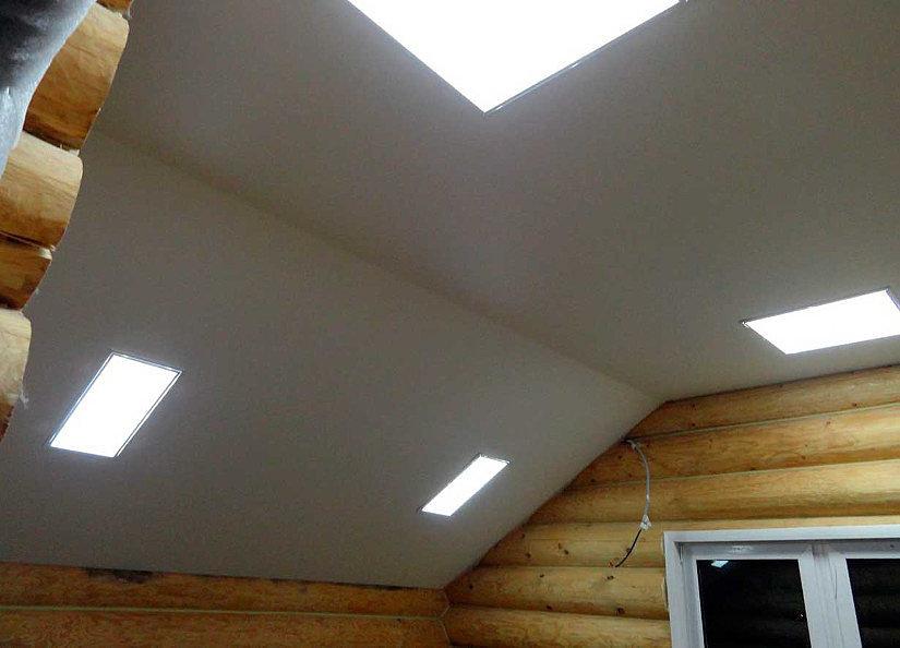 натяжной потолок в неотапливаемом помещении