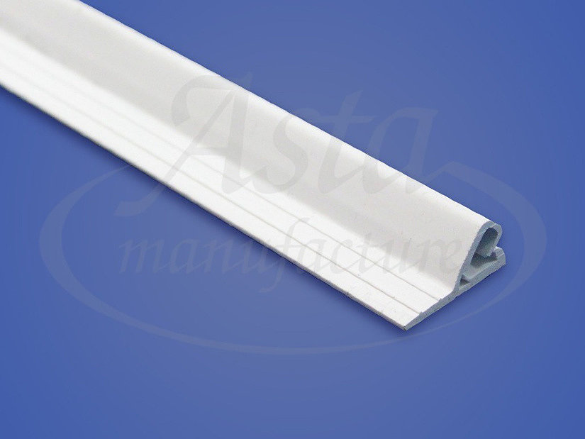 ПВХ-профиль с клипсовой системой крепления для монтажа тканевого потолка