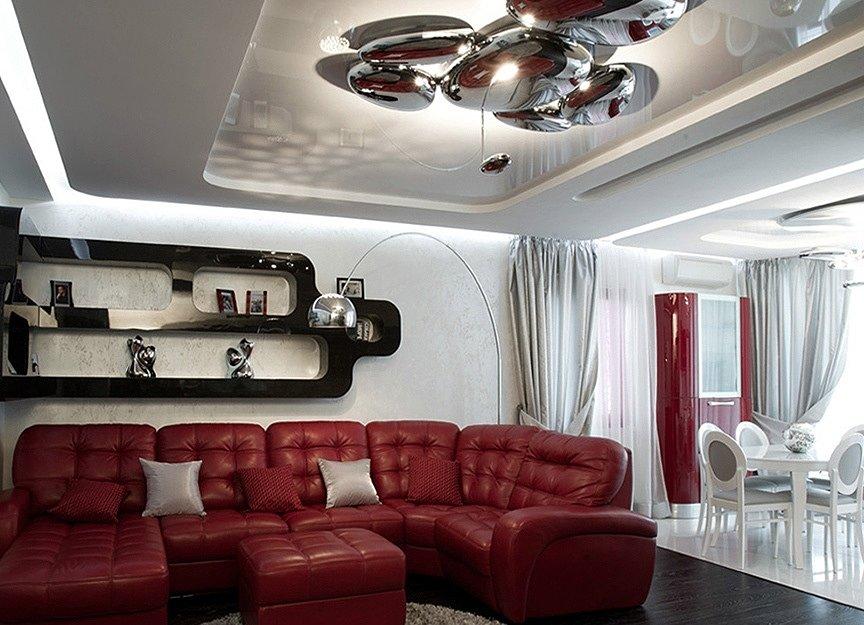 Натяжной потолок в стиле Хай-тек