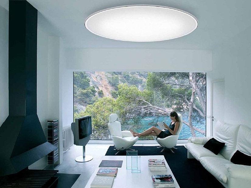 Большой LED светильник круглой формы