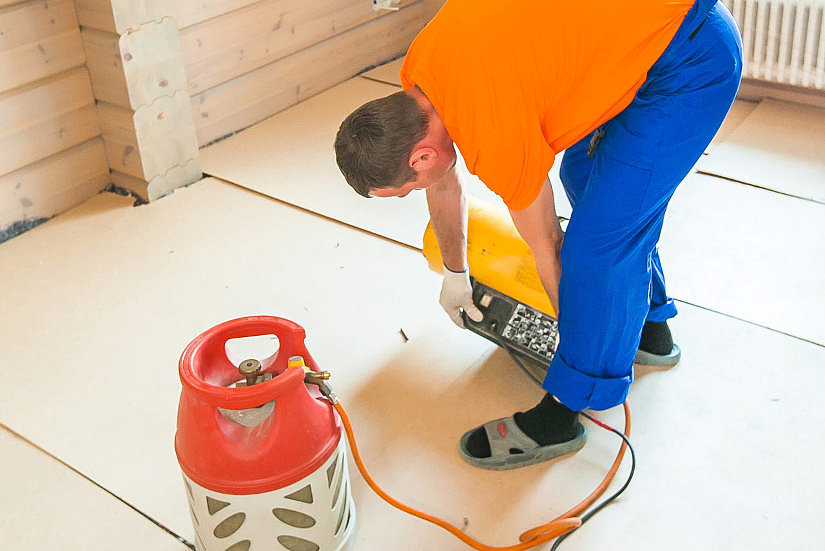 подготовка пушки к установке потолка