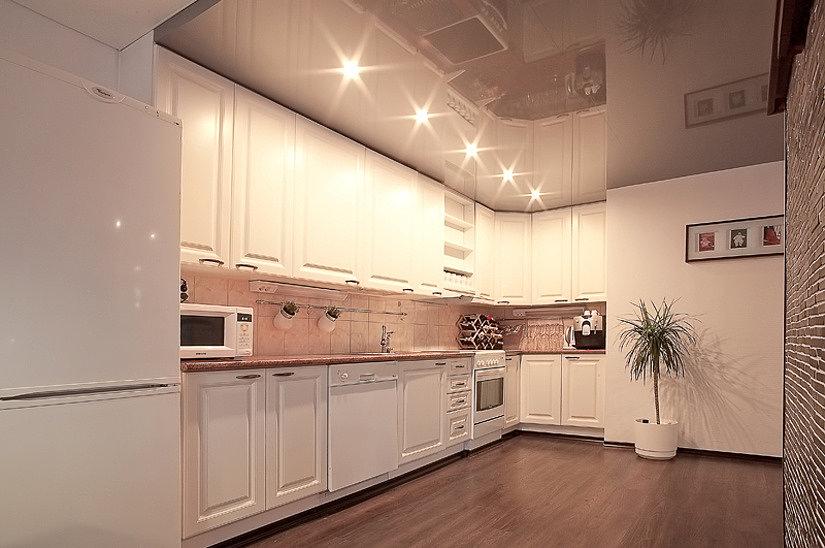 Схема расположения светильников на кухне
