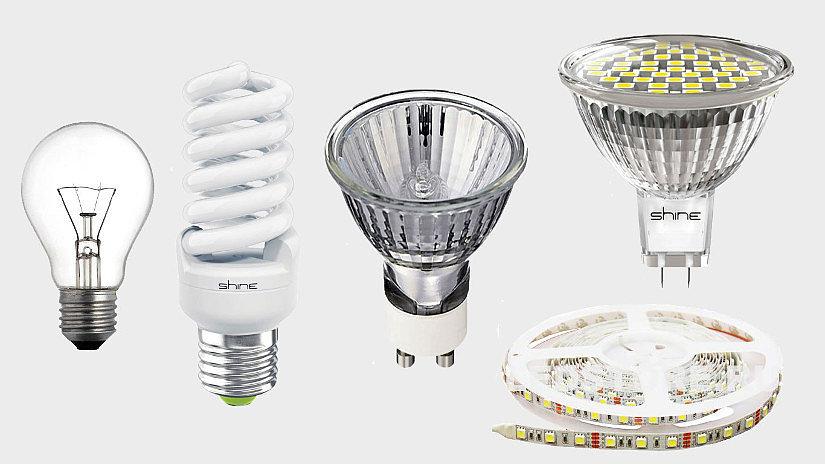 Виды ламп для натяжных потолков