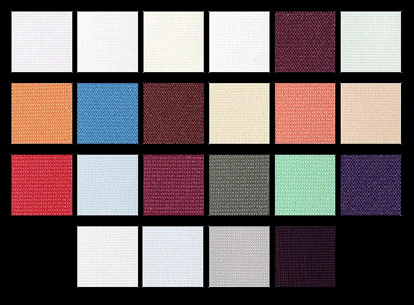 Цветовая палитра тканевых потолков Descor