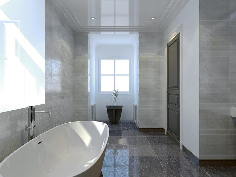 Потолок в ванной из натяжной ПВХ-пленки