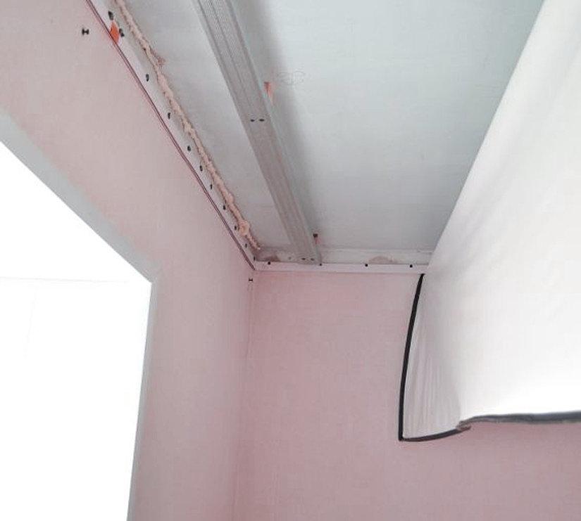 гарпунный натяжной потолок